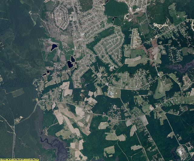 Onslow County, North Carolina aerial photography