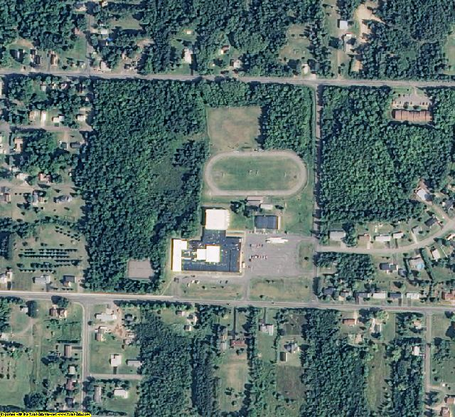 Ontonagon County, MI aerial photography detail