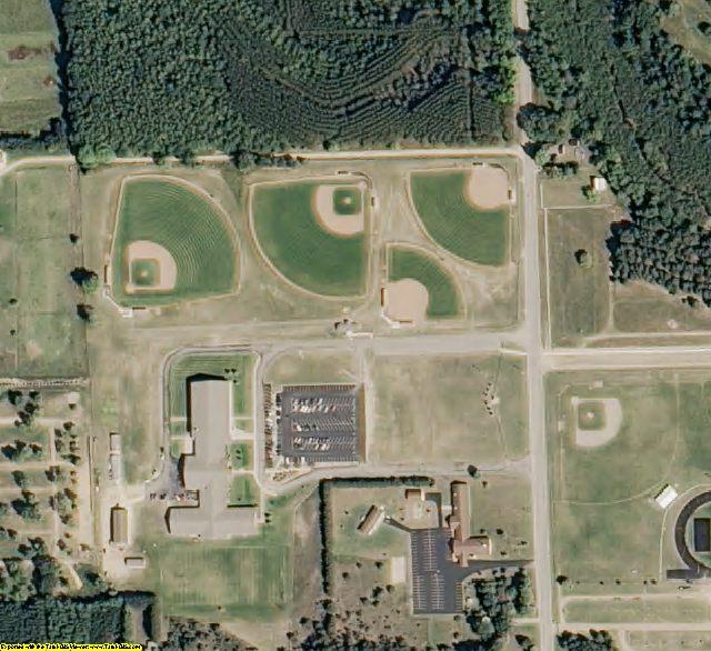 Osceola County, MI aerial photography detail