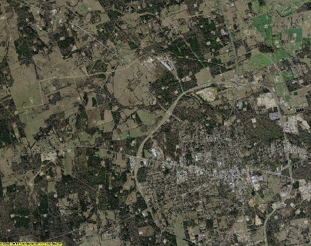 Panola County, Texas aerial photography