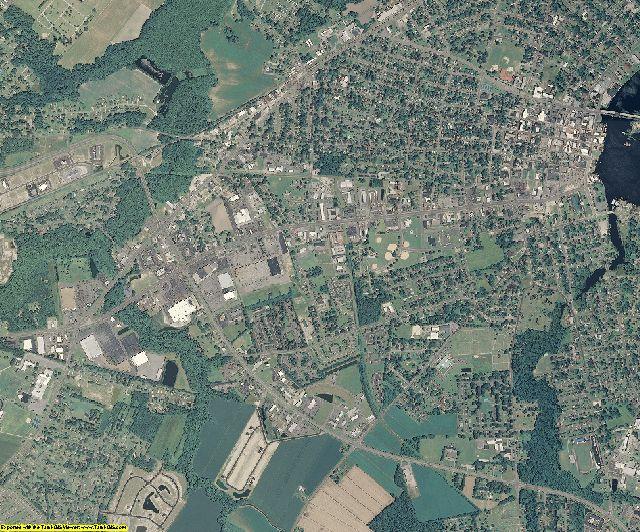 Pasquotank County, North Carolina aerial photography