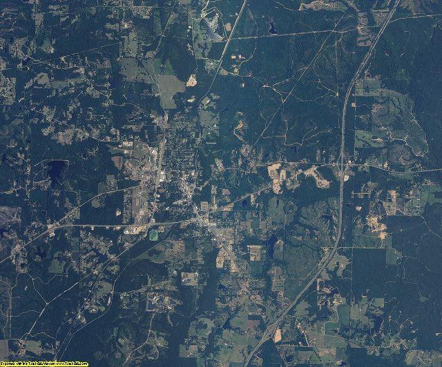 Pearl River County, Mississippi aerial photography