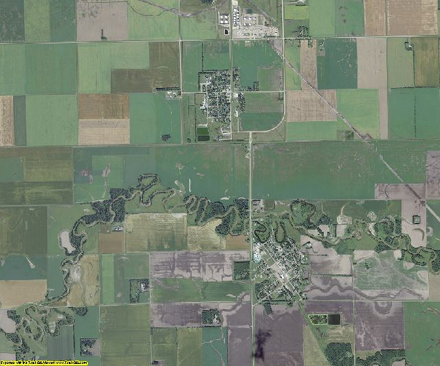 Pembina County, North Dakota aerial photography