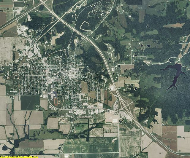 Pike County, Missouri aerial photography