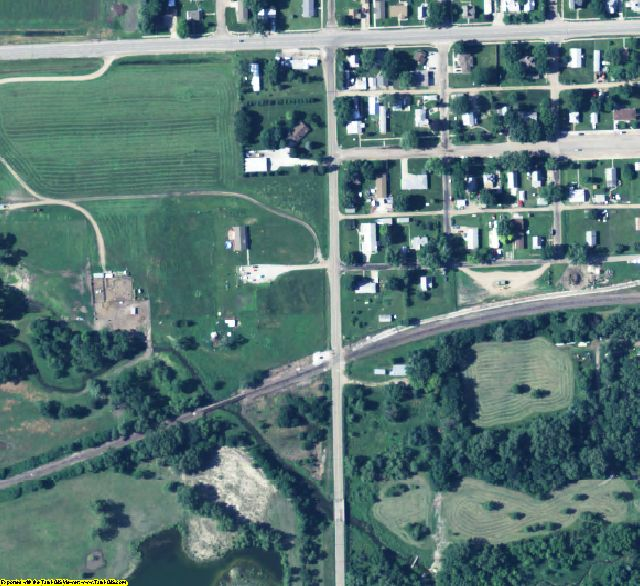 Platte County, NE aerial photography detail