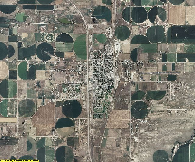 Platte County, Wyoming aerial photography