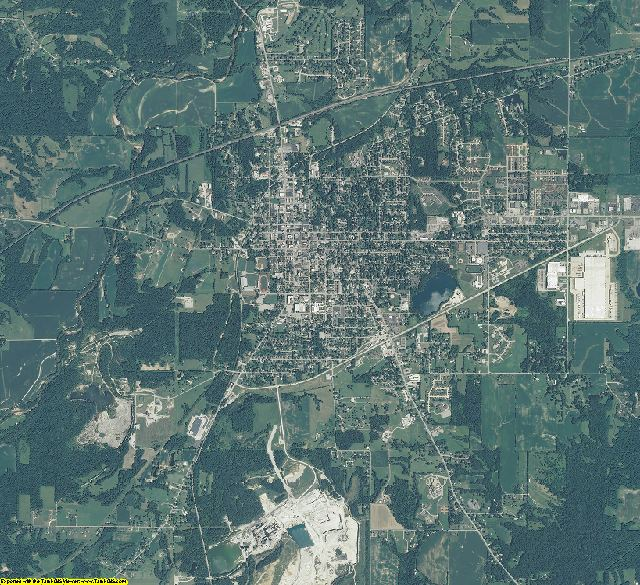 Putnam County, Indiana aerial photography