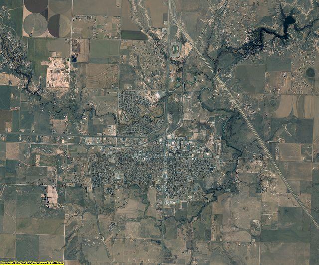 Randall County, Texas aerial photography