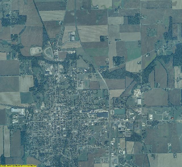 Randolph County, Indiana aerial photography
