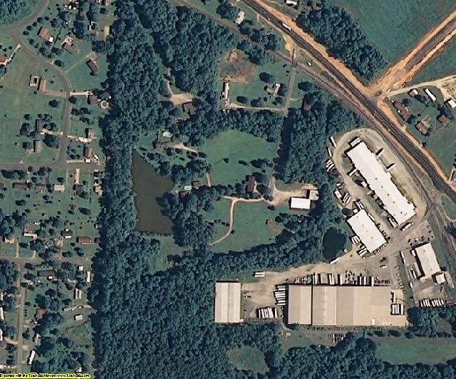 Randolph County, NC aerial photography detail
