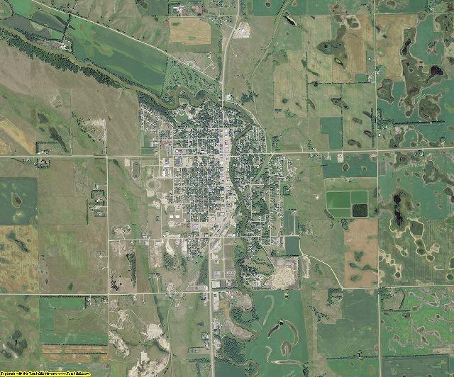 Ransom County, North Dakota aerial photography