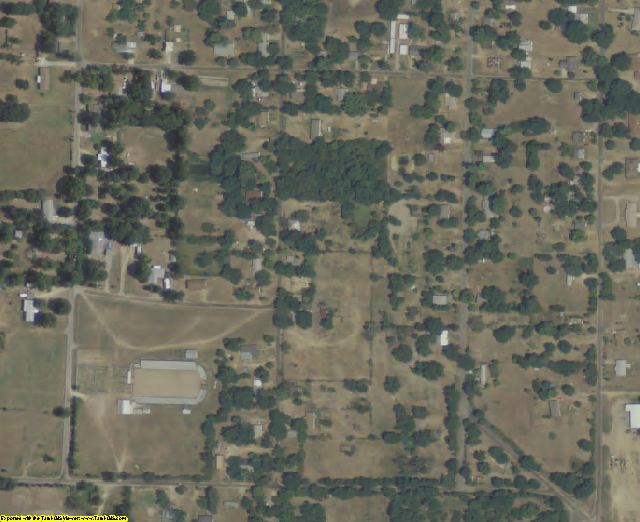 Red River County, TX aerial photography detail
