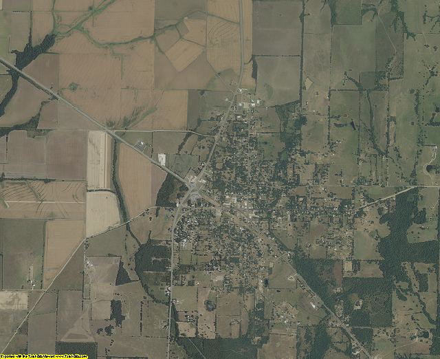 Red River County, Texas aerial photography
