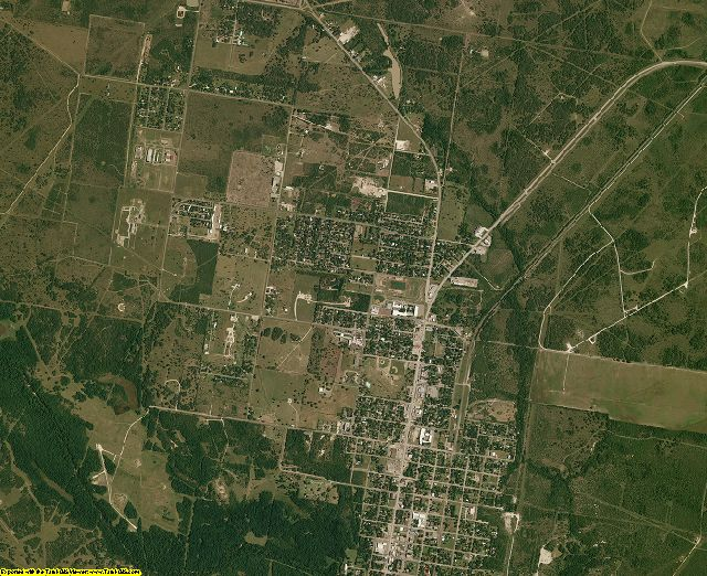 Refugio County, Texas aerial photography