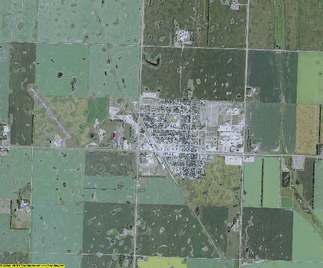 Renville County, North Dakota aerial photography