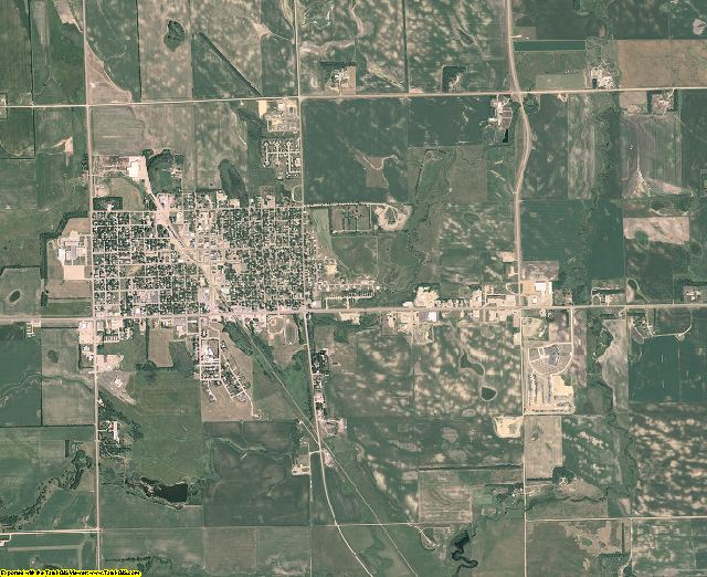 Roberts County, South Dakota aerial photography