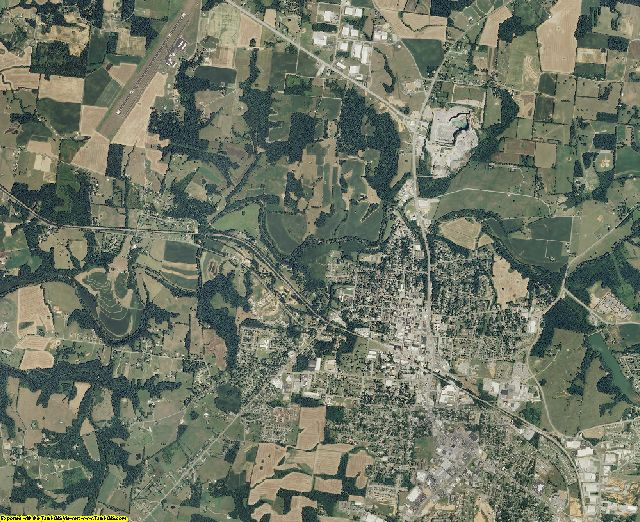 Robertson County, Tennessee aerial photography