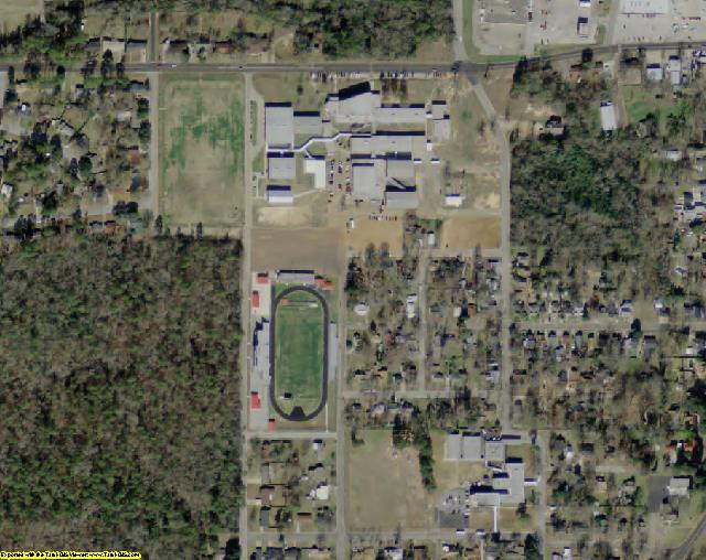 Rusk County, TX aerial photography detail