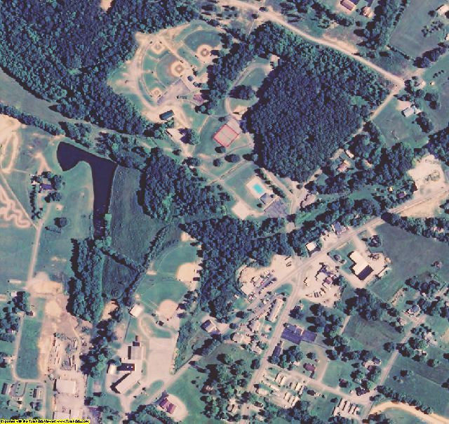 Russell County, KY aerial photography detail
