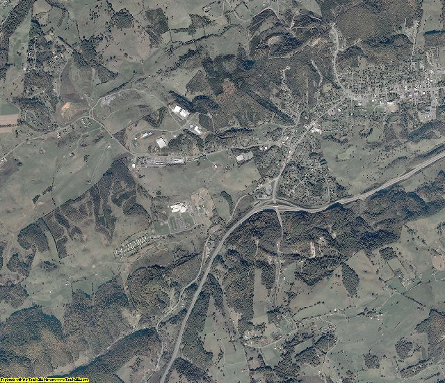 Russell County, Virginia aerial photography