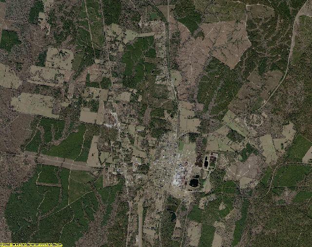 Sabine County, Texas aerial photography