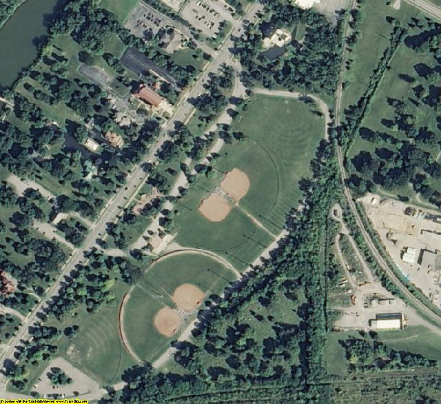 Saginaw County, MI aerial photography detail