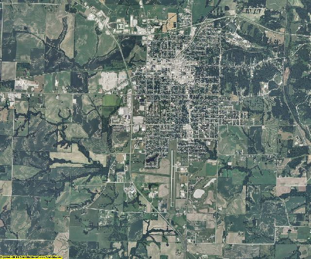 Saline County, Missouri aerial photography