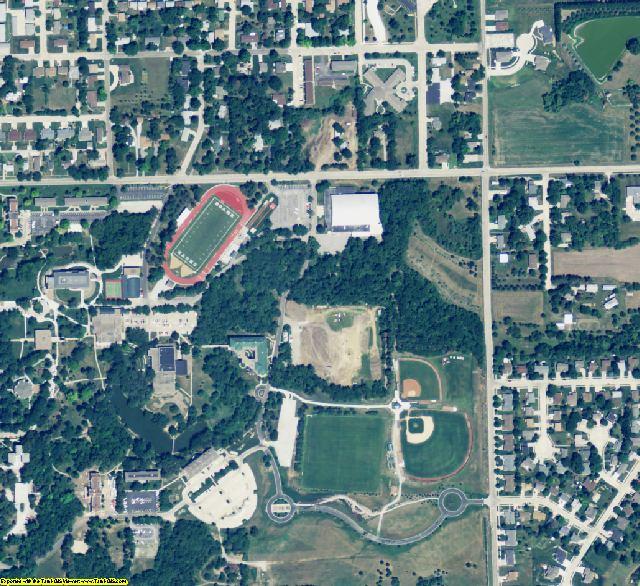 Saline County, NE aerial photography detail