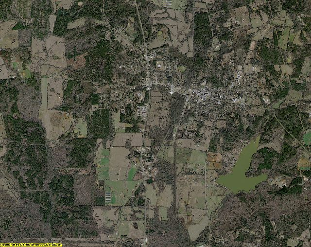 San Augustine County, Texas aerial photography