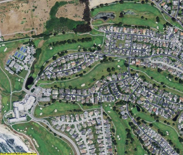 San Mateo County, CA aerial photography detail