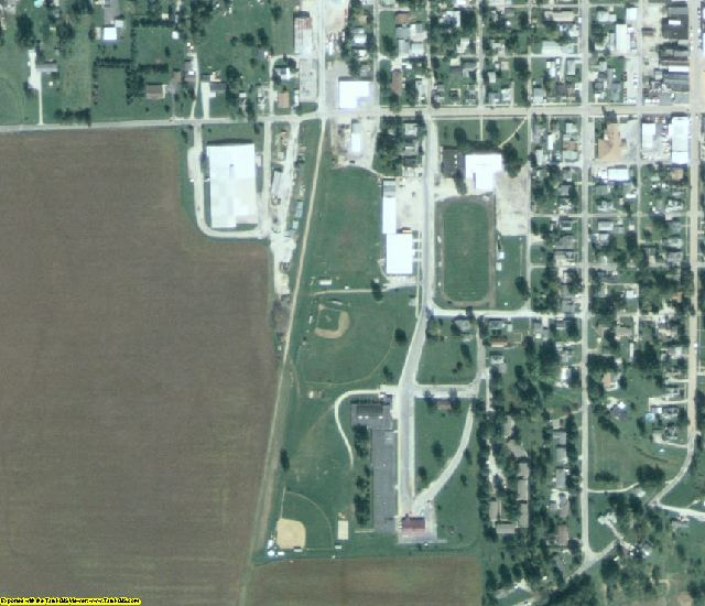 Scott County, IL aerial photography detail