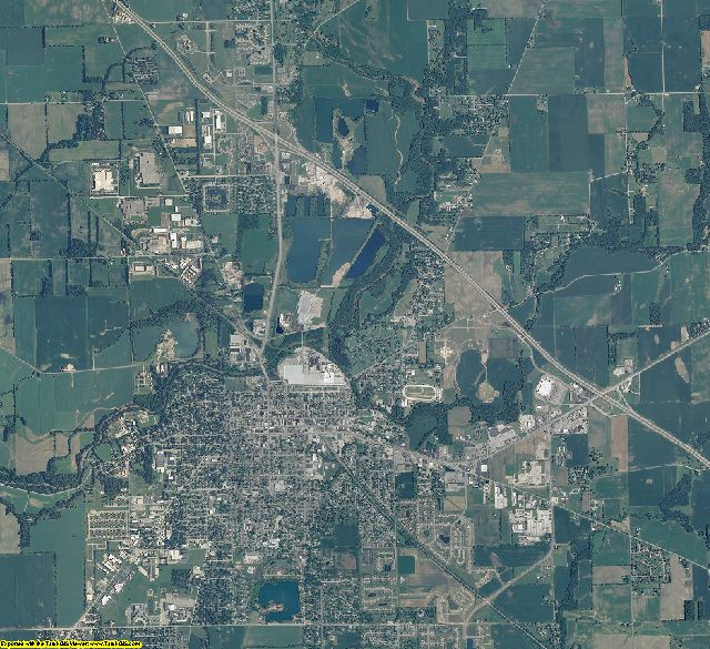 Shelby County, Indiana aerial photography