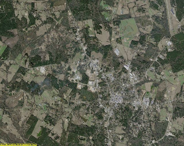 Shelby County, Texas aerial photography