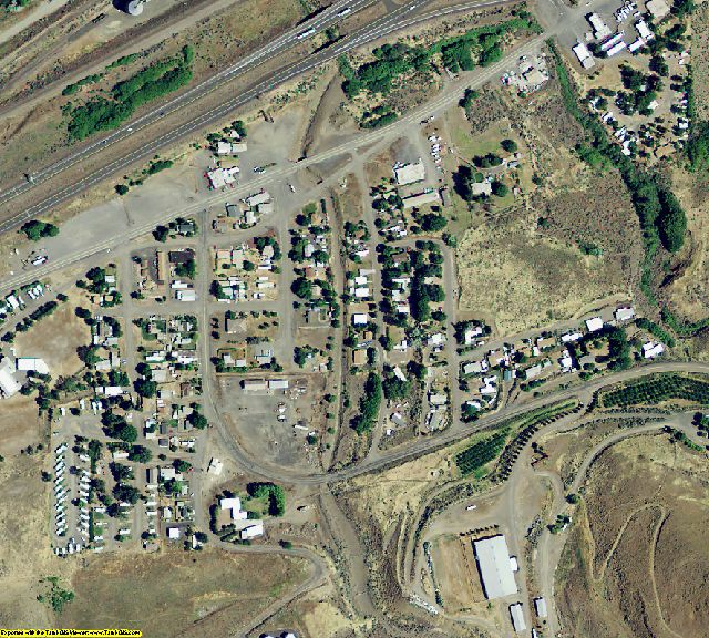 Sherman County, OR aerial photography detail