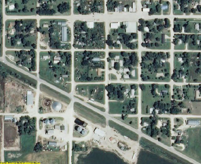 Smith County, KS aerial photography detail