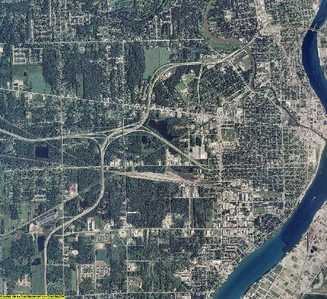 St. Clair County, Michigan aerial photography