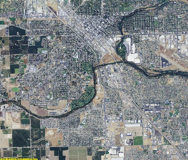 Stanislaus County, California aerial photography