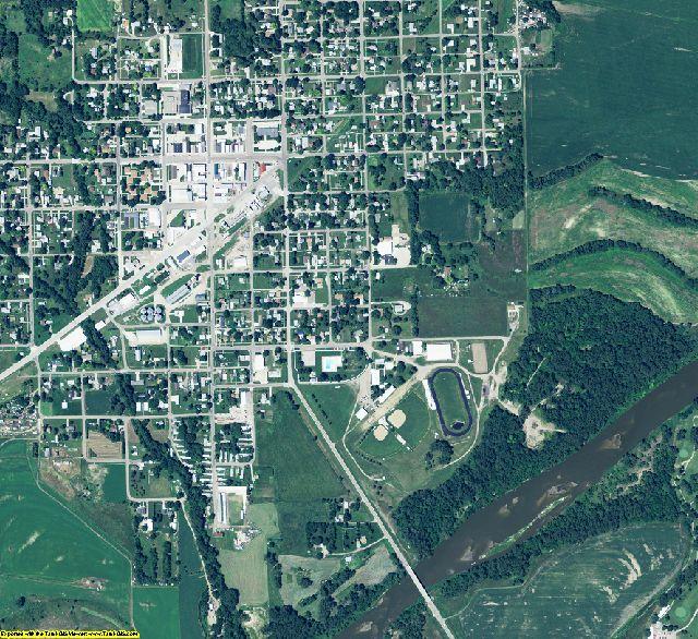 Stanton County, Nebraska aerial photography