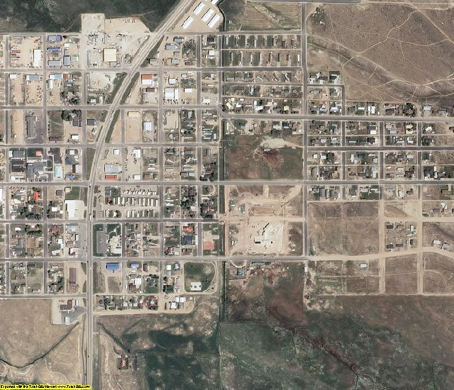 Sublette County, WY aerial photography detail