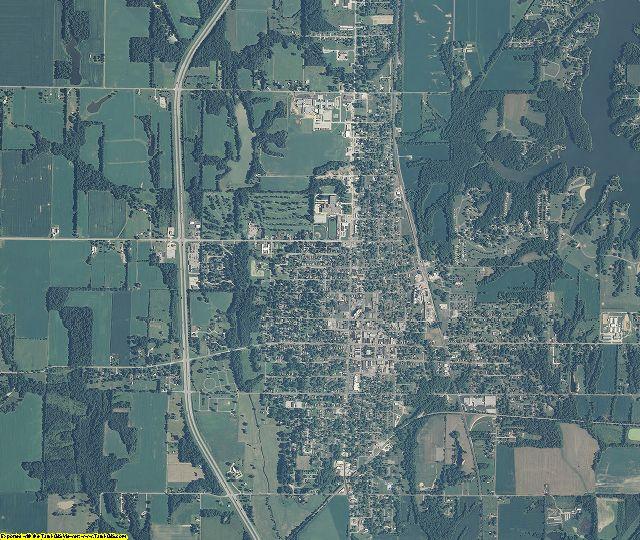 Sullivan County, Indiana aerial photography