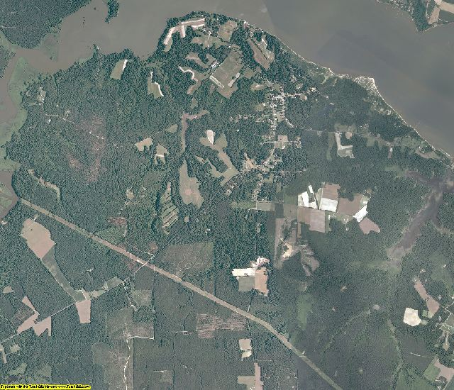 Surry County, Virginia aerial photography