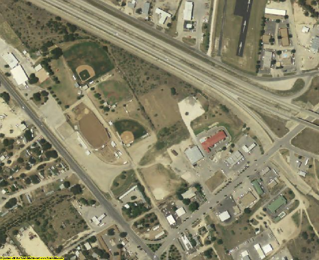 Sutton County, TX aerial photography detail