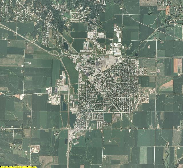 Tazewell County, Illinois aerial photography