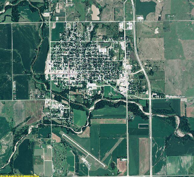 Thayer County, Nebraska aerial photography