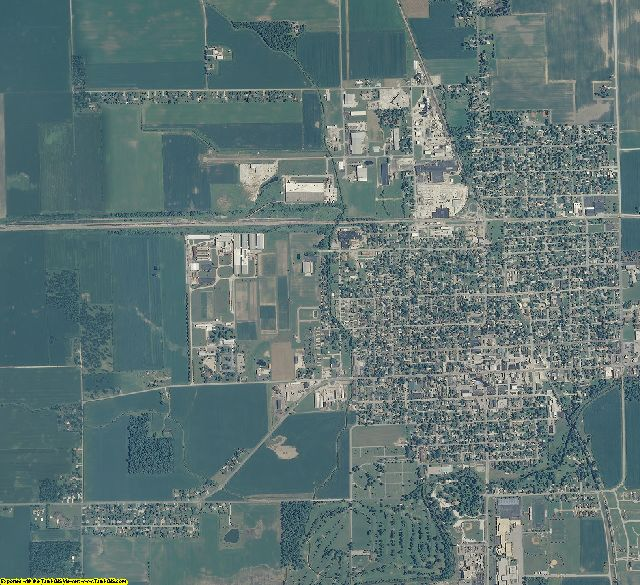Tipton County, Indiana aerial photography
