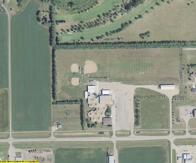 Traill County, ND aerial photography detail