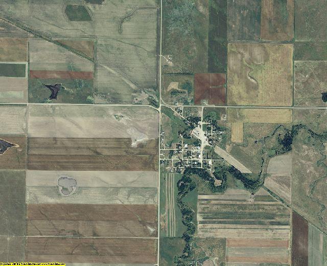Tripp County, South Dakota aerial photography