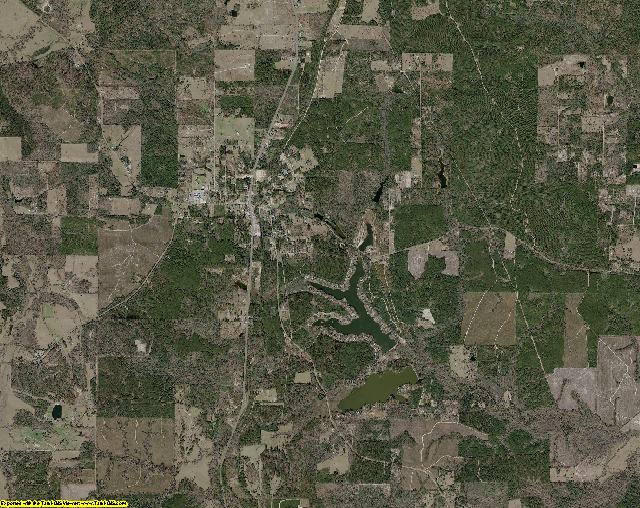 Tyler County, Texas aerial photography