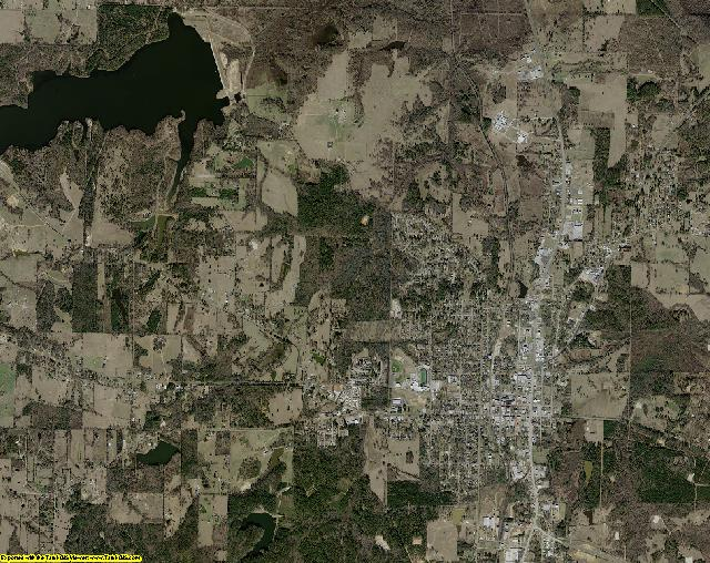Upshur County, Texas aerial photography