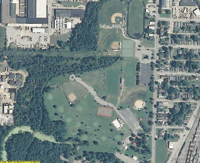 Vanderburgh County, IN aerial photography detail